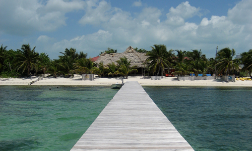 View of Rojo Lounge from the dock