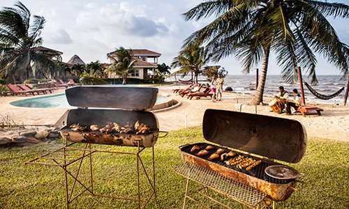 southern-belize-hopkins-bay-resort-beach-bbq