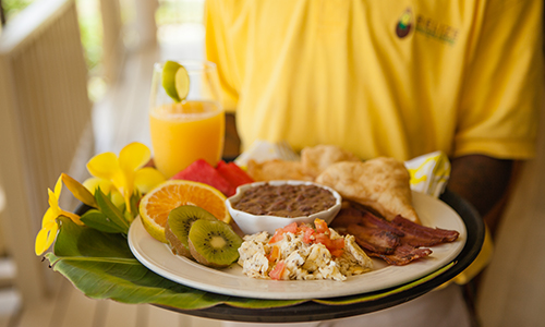 southern-belize-hopkins-bay-resort-beach-food